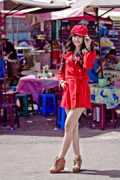 Tứ đại hot girl Việt rạng rỡ cùng sắc đỏ - 5