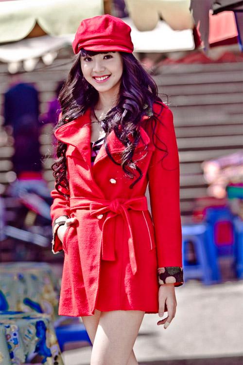 Tứ đại hot girl Việt rạng rỡ cùng sắc đỏ - 6