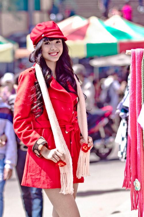 Tứ đại hot girl Việt rạng rỡ cùng sắc đỏ - 4