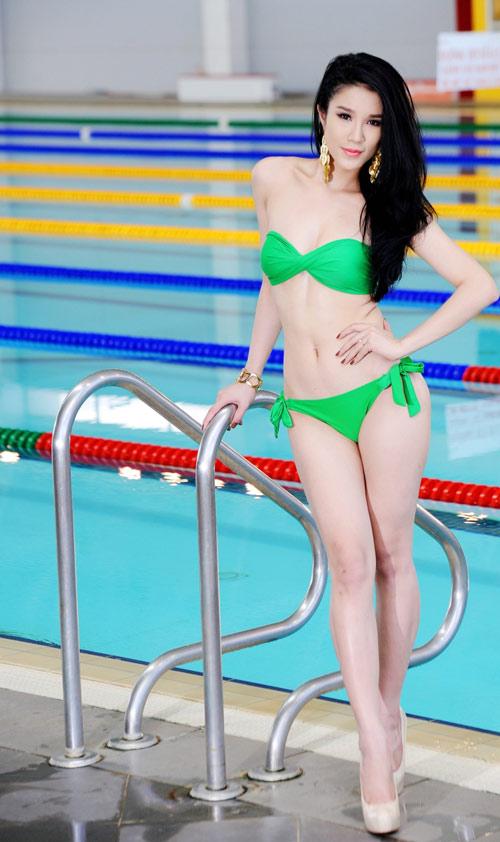 Diệp Anh diện bikini khoe ba vòng sexy - 16