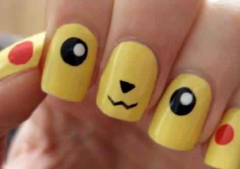 Đáng yêu cùng kiểu nail Pikachu - 1