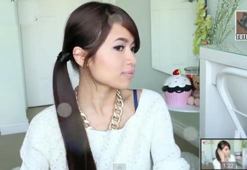 Xinh xinh tóc đuôi ngựa buộc lệch - 1