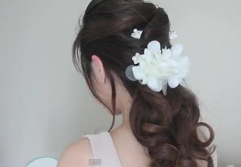 Kiểu tóc sang trọng dành cho cô dâu - 2