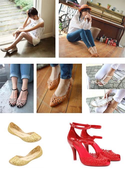 Khoe chân xinh cuối hè bằng giày lưới - 1