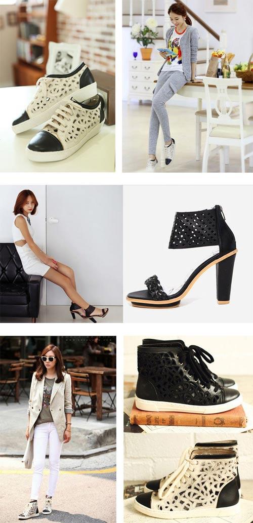 Khoe chân xinh cuối hè bằng giày lưới - 4
