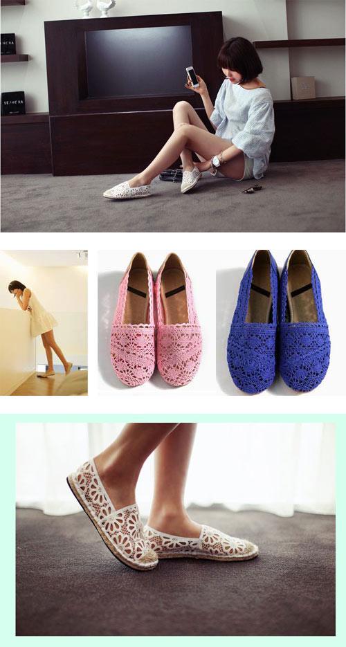Khoe chân xinh cuối hè bằng giày lưới - 6