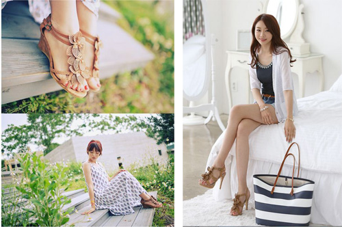 Khoe chân xinh cuối hè bằng giày lưới - 11