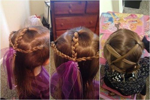 Ông bố đơn thân mỗi ngày tết một kiểu tóc cho con gái