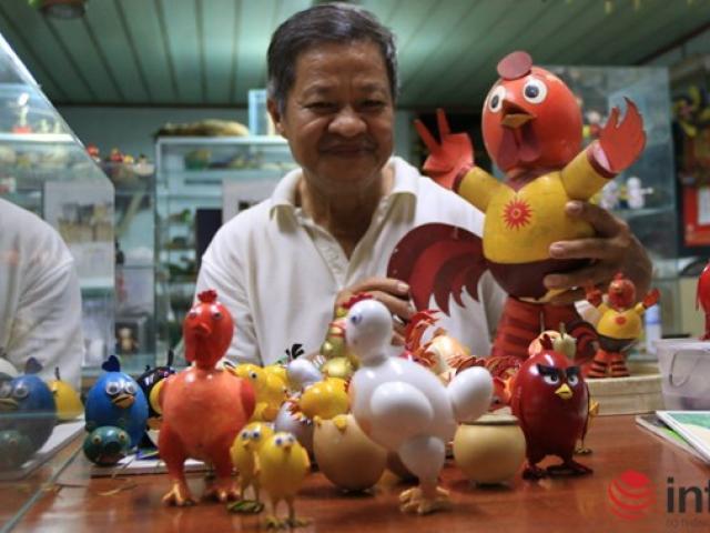 Chiêm ngưỡng đàn gà từ vỏ trứng của nghệ nhân Sài Gòn