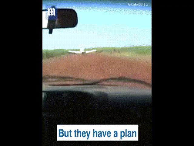 Brazil: Lao ô tô vào máy bay chở ma túy sắp cất cánh