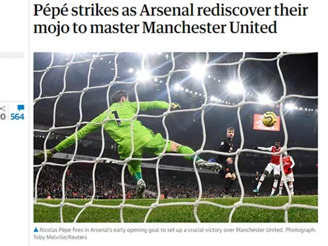"""Arsenal quật ngã MU: Arteta được """"tung lên mây"""", huyền thoại cáu với Solskjaer"""