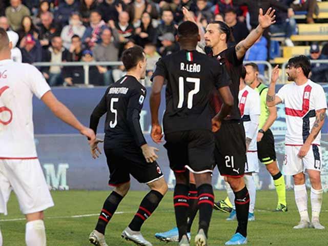 Video highlight trận Cagliari - AC Milan: Ibrahimovic và SAO trẻ bùng nổ