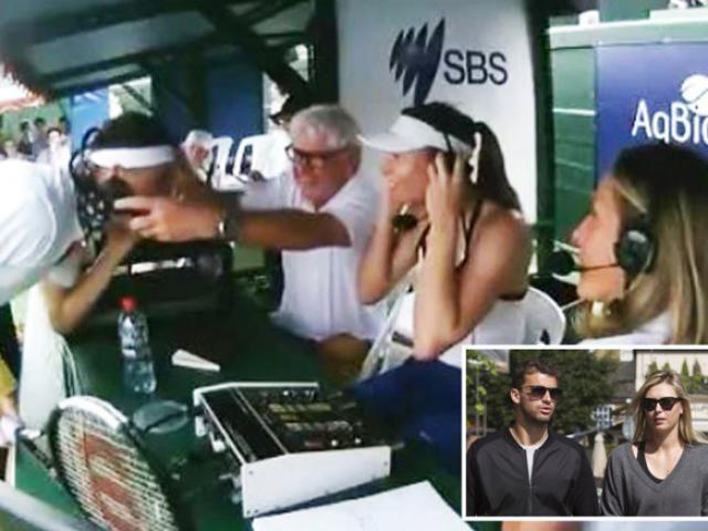 """Sharapova bị tình cũ Dimitrov """"phục kích"""" ở Australia: Ái ngại vì quần đùi"""