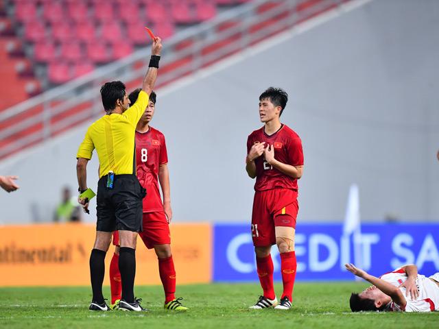 Đình Trọng nhận thẻ đỏ giải U23 châu Á: Có lỡ đại chiến vòng loại World Cup với Malaysia?
