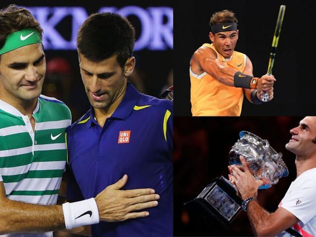 "Federer, Nadal tranh ""mưa kỷ lục"": Vua Australian Open Djokovic có e ngại?"