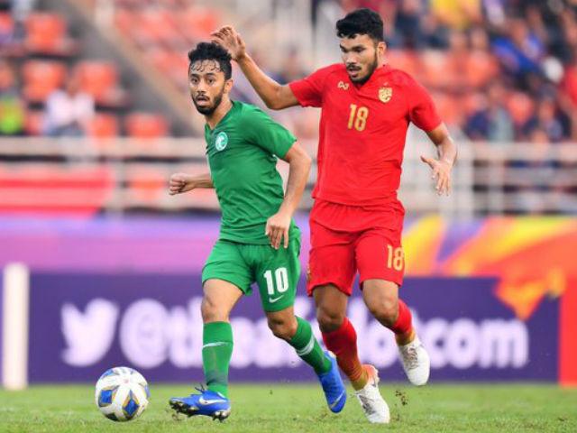 Video highlight trận U23 Saudi Arabia - U23 Thái Lan: Sụp đổ vì VAR, giật vé bán kết