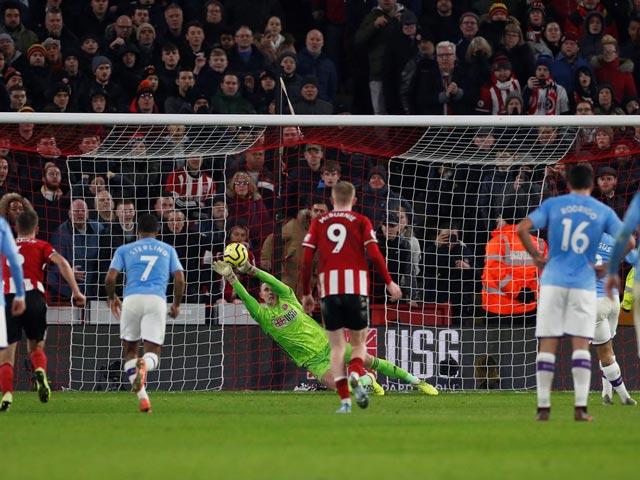 Trực tiếp bóng đá Sheffield United - Man City: Aguero mở tỉ số