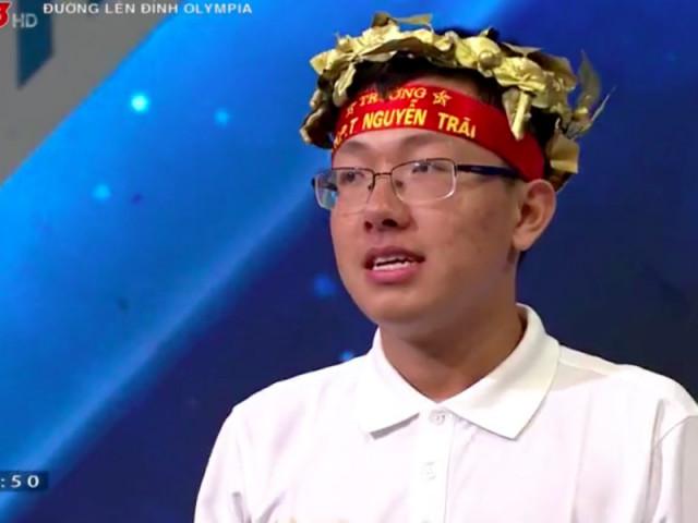 Nam sinh Thái Bình nghẹt thở giành chiến thắng Đường lên đỉnh Olympia