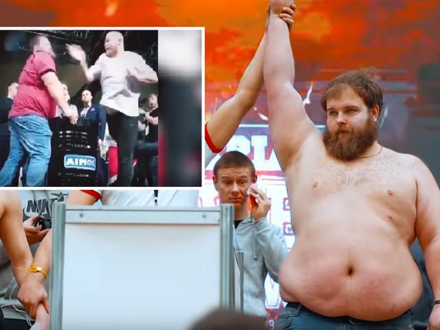 """Vua thi tát ở Nga 150kg """"đánh đông dẹp bắc"""": """"Về xóm"""" bị nông dân cho nhập viện"""
