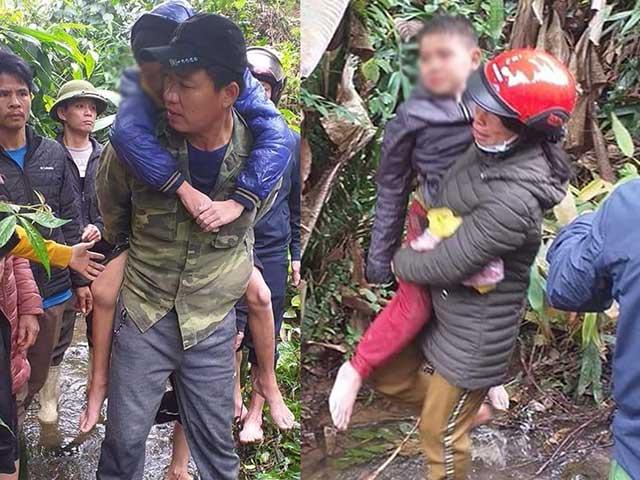 Sau 1 đêm lạc trong rừng, hai bé trai hoảng loạn, kiệt sức
