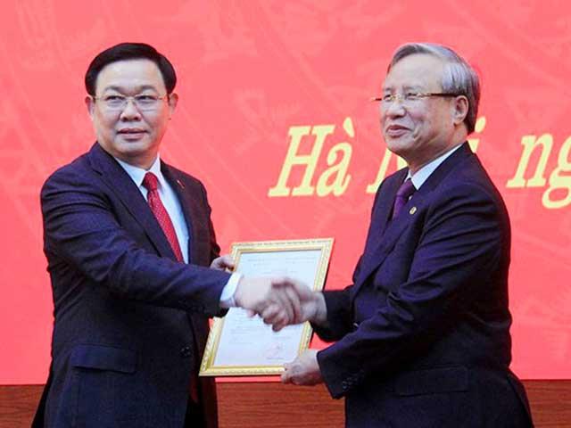Bí thư Thành ủy Hà Nội Vương Đình Huệ được bầu làm Trưởng đoàn ĐBQH