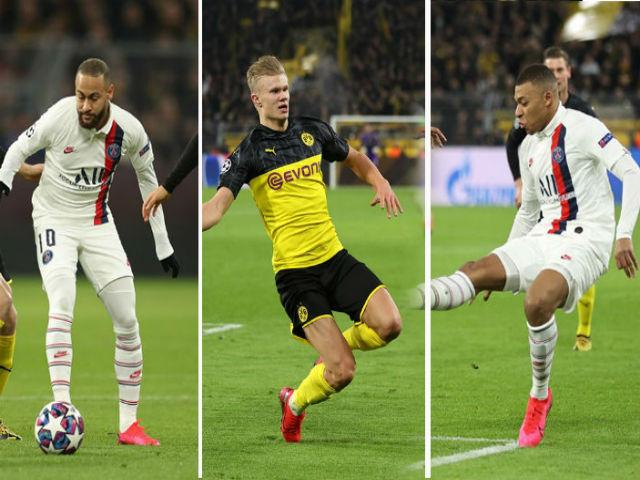"""""""Sát thủ"""" Haaland gieo rắc ác mộng cho Neymar - Mbappe cúp C1"""