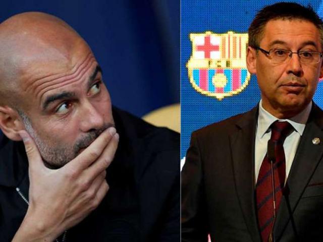 """Chủ tịch Barca ủng hộ cấm Man City dự cúp C1: Pep điên tiết """"phản pháo"""""""