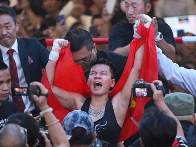 Vang dội boxing: Thu Nhi đánh bại võ sĩ Thái Lan, đoạt đai châu Á