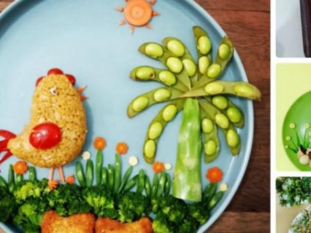 """Mẹ trang trí bữa ăn hấp dẫn trị """"bệnh"""" lười ăn rau của con"""