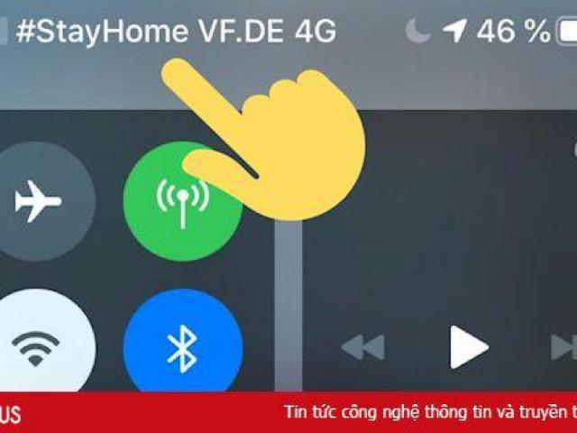"""Nhà mạng thế giới hiển thị thông điệp """"ở nhà"""" trên iPhone"""