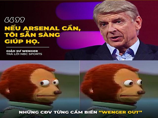 """Ảnh chế: Giáo sư Wenger sẵn sàng trở lại """"giải cứu"""" Arsenal"""