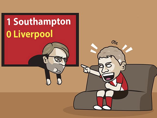 """Ảnh chế: Liverpool """"ngã ngựa"""", MU hả hê sẽ chiếm ngôi đầu bảng"""