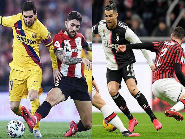 """Soi trận hot nhất hôm nay: Barca mơ top 4, Juventus nhờ Ronaldo """"dạy dỗ"""" AC Milan"""
