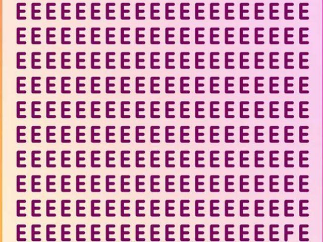 """Trong vòng 10 giây bạn có tinh mắt tìm ra chữ cái """"lạc loài"""" không?"""