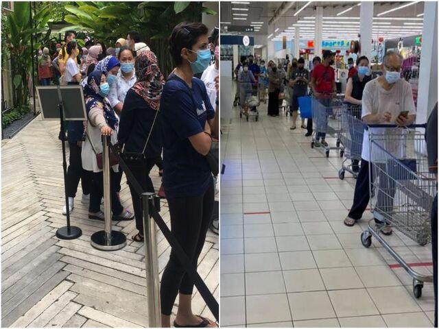 Hàng nghìn người Malaysia hoảng loạn đi mua sắm do lo sợ làn sóng Covid mới