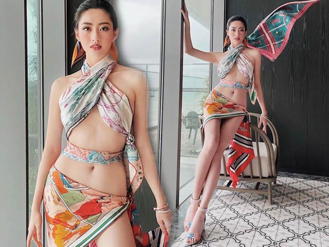 Hoa hậu Cao Bằng có số đo đẹp nhất lịch sử quấn khăn như thần Vệ nữ tôn body tượng tạc