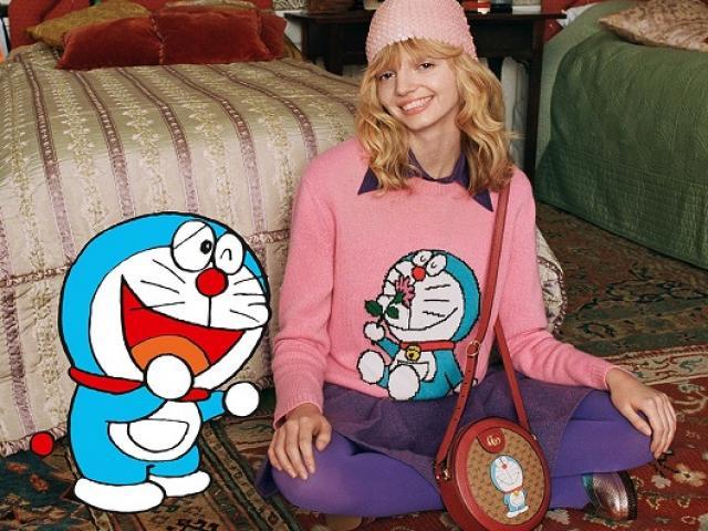 Đến lượt mèo máy Doraemon bước vào thế giới thời trang cùng Gucci