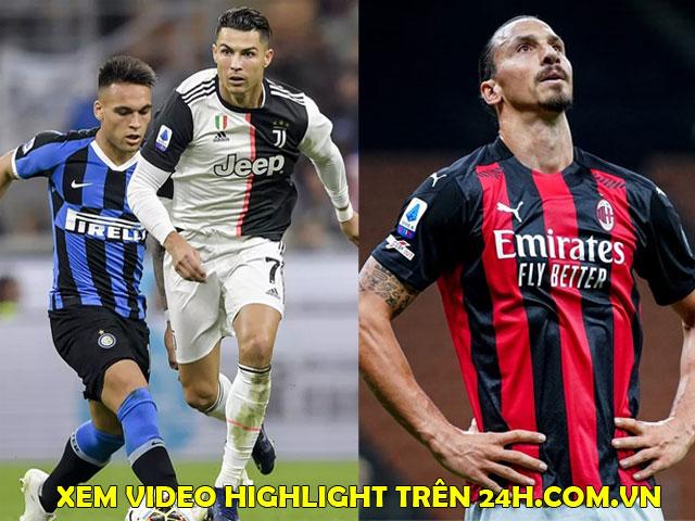 """Inter """"đại chiến"""" Juventus, AC Milan thừa cơ bứt tốc: Cực nóng vòng 18 Serie A"""