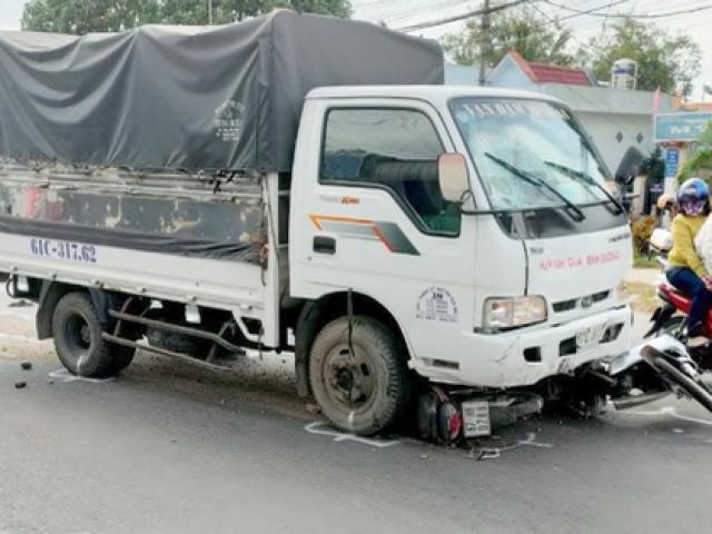 Tài xế ngủ gật, xe tải tông nhiều học sinh trên Quốc lộ 91