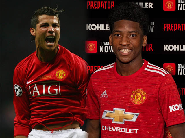 Tân binh 18 tuổi của MU được ví như Ronaldo: Quả bóng vàng tương lai?