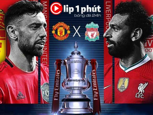 """MU - Liverpool oằn mình đá Ngoại hạng Anh, còn """"máu"""" đại chiến ở FA Cup? (Clip 1 phút Bóng đá 24H)"""