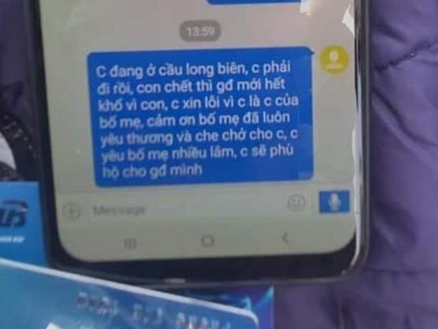 Nam thanh niên nhảy cầu tự tử, nghi để lại tin nhắn xin lỗi mẹ