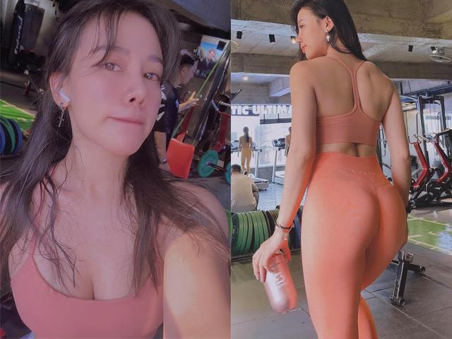 Cô nàng công sở Khánh Huyền hóa hot girl vòng ba 100cm nhờ tập Gym