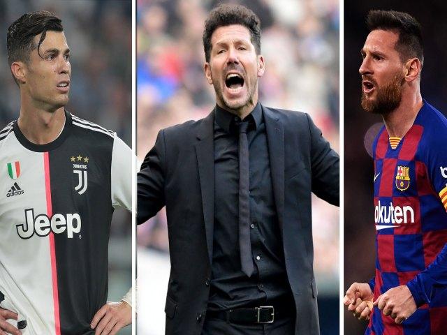 """Cú sốc đội hình số 1 thập kỷ: Simeone vượt Zidane """"làm thầy"""" Ronaldo, Messi"""