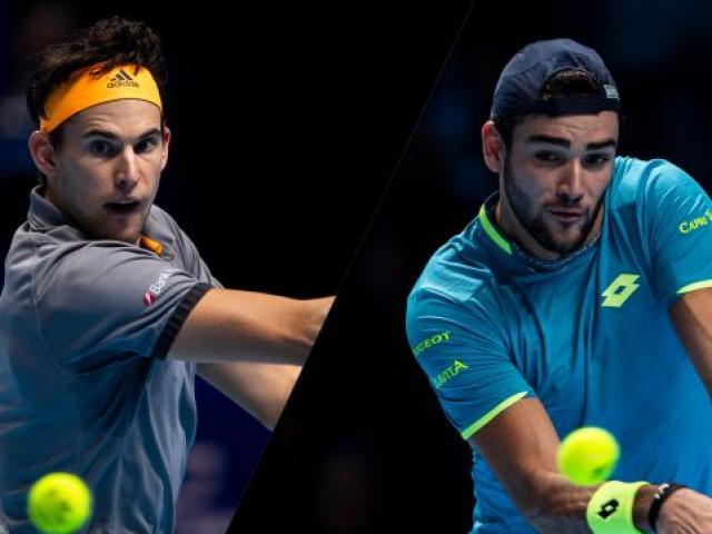 """Video tennis Thiem - Berrettini: 2 set chóng vánh, """"Hoàng tử"""" gục ngã (ATP Cup)"""