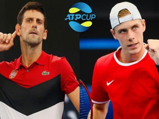 """Video tennis Djokovic - Shapovalov: Bản lĩnh""""Nhà Vua"""", ngược dòng xuất sắc (ATP Cup)"""
