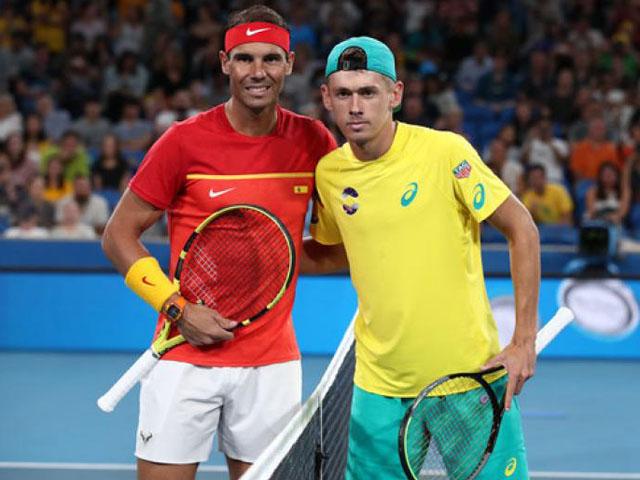 """Trực tiếp tennis Nadal - De Minaur: """"Bò tót"""" ra quân, tái ngộ """"bại tướng"""" (ATP Cup)"""