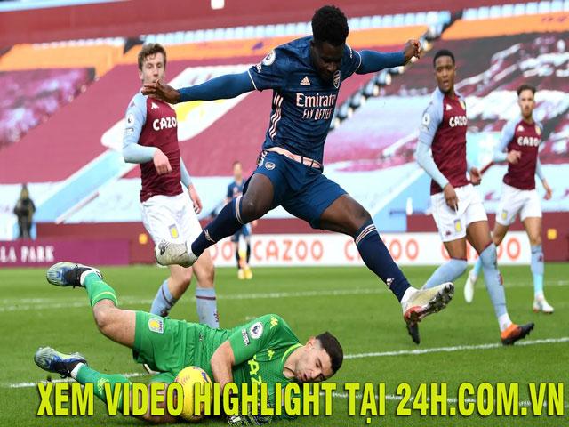 Video Aston Villa - Arsenal: Bắn phá liên hồi, sai lầm khó sửa