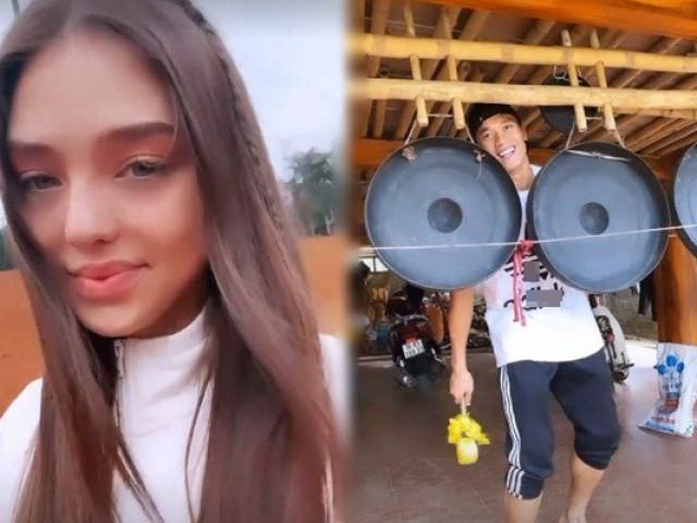 Thủ môn Bùi Tiến Dũng đưa bạn gái Ukraina về quê đón Tết