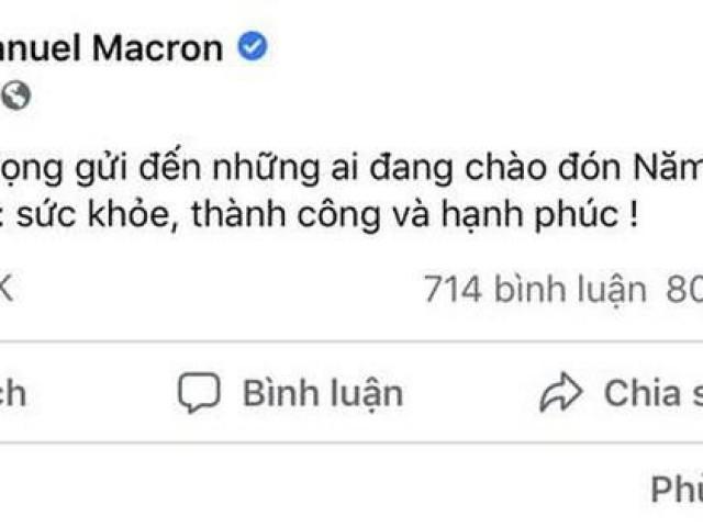 Thông điệp chúc tết bằng tiếng Việt của Tổng thống Pháp nhận bão like